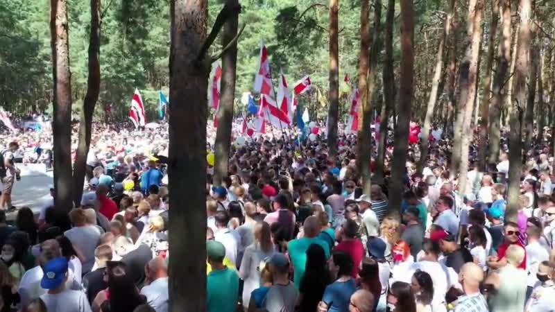 До слез приятно вспомнить Оперная певица спела на митинге Тихановской в Бресте