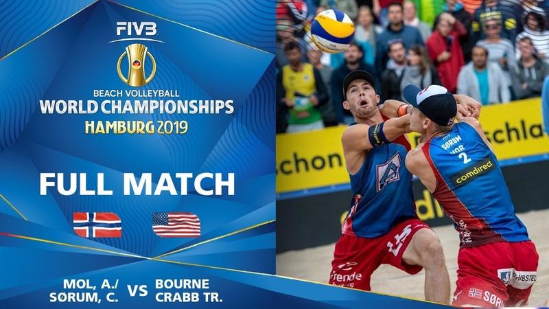 MolSorum vs. BourneCrabb - Bronze Medal Match | Beach Volleyball World Champs Hamburg 2019