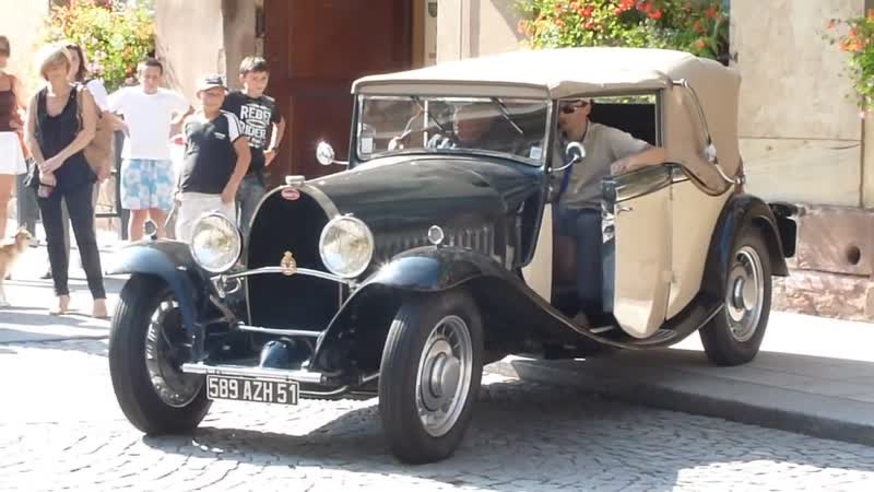 Bugatti Type 49 cabriolet Start Up great old sound HD