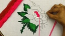 Amazing hand embroidery rose flower design with very easy stitches