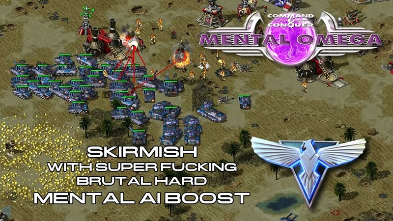 Mental Omega 3 3 4 Skirmish With Super F*cking Brutal Hard Mental AI Boost