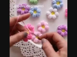 МК по вязанию цветочка