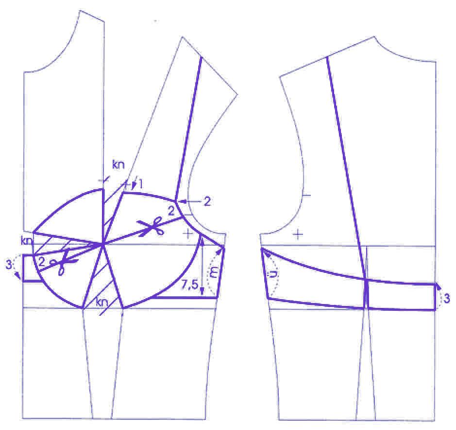 Выкройка бюстгальтера, процесс пошива.