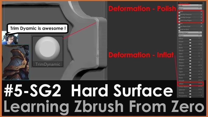 5 SG2 Amazing Hard Surface Brush Trim Dynamic Deformation Inflate Polish Crisp Edges Zbrush