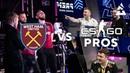 West Ham vs CSGO Pros in REACTION TEST feat. Zywoo, Magisk K0nfig