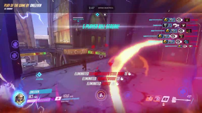 Our Mei separated enemy tanks with wall which made rest of the team open