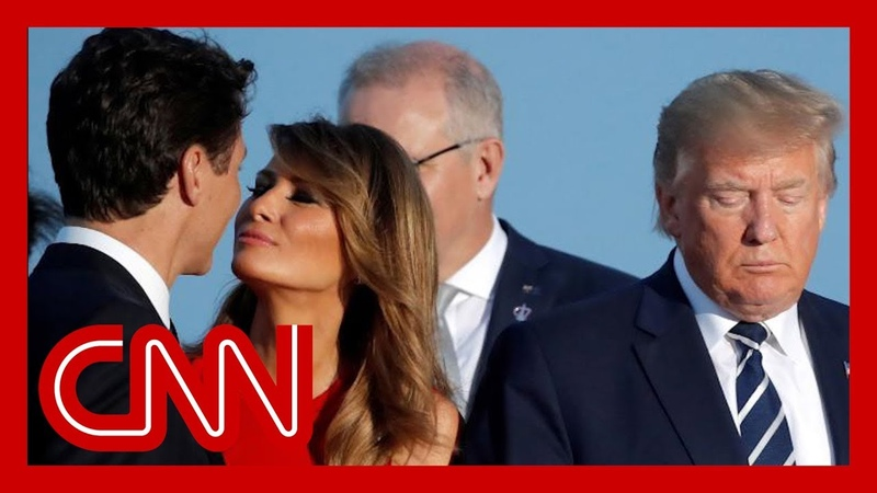 Melania Trump s moment with Trudeau goes viral