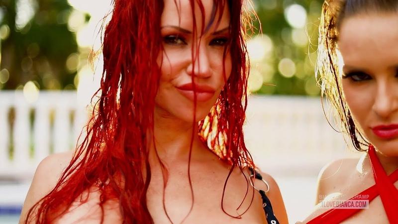 Tiniest bikinis ever Bianca Beauchamp Carrie Lachance in sling bikinis
