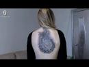 ТАТУИРОВКА.Исправили красотке страшный партак на спине.Corrected the beauty of a poor-quality tattoo