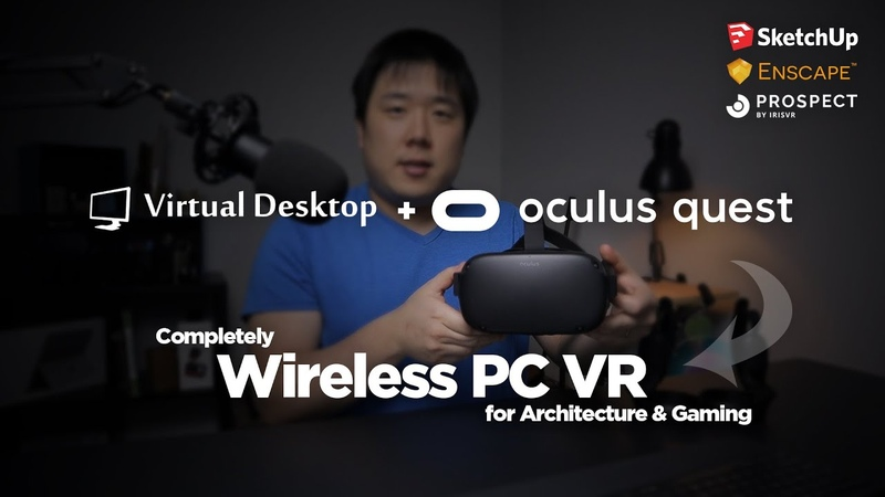 Wireless(Without Link) PC VR with Oculus Quest using Virtual Desktop - Truly Amazing!