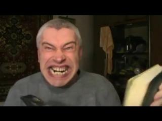Чёрный юмор - Опасный эксперимент - Голова - Книга и молоток - Видео прикол ужас  Интересный Горин Геннадий
