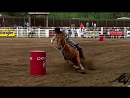 Barrel racing cowgirls - 93rd Falkland Stampede 2011 (1)