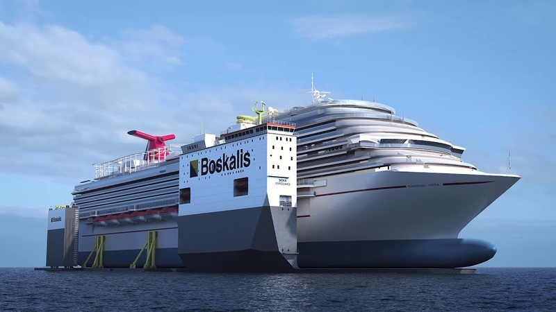 Animation BOKA Vanguard dry docking Carnival Vista