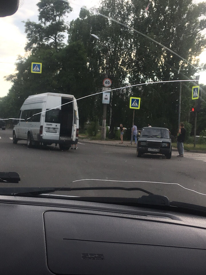 В Курске в ДТП пострадала пассажирка маршрутки