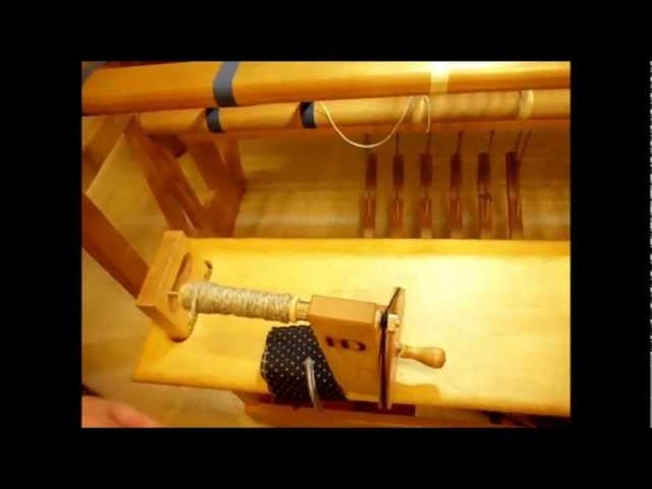 How to Weave on a Loom - Video 15 - Tying up the treadles