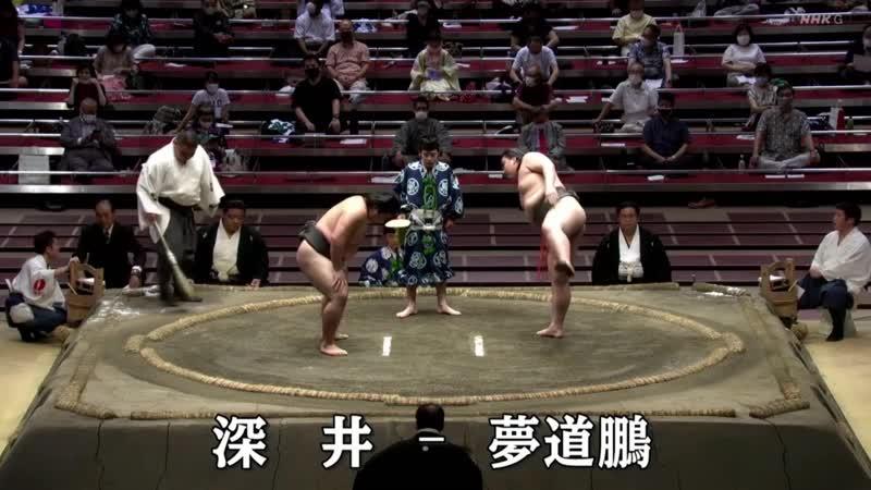 Playoff - Fukai(Sd67e) vs Mudoho(Sd84w) - July 2020, Sandanme Yusho - Day 15 (NHK)
