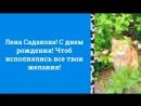 Лена Садакова! С днем Рождения! Это видео сделано специально для тебя!