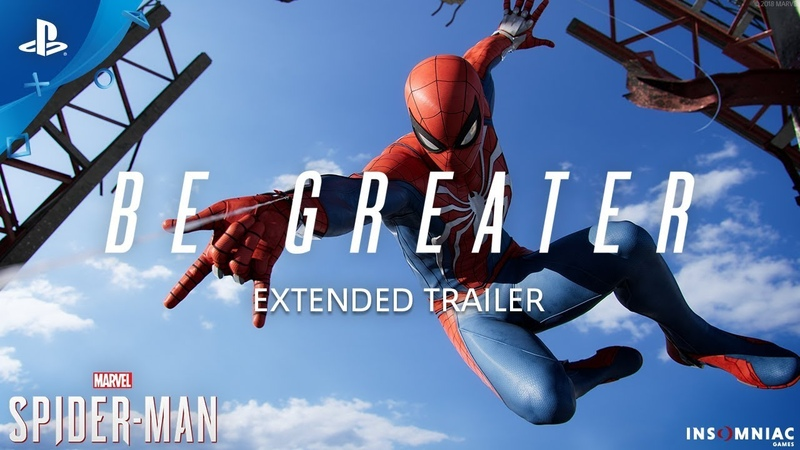 Marvel's Spider Man Be Greater Extended Trailer PS4