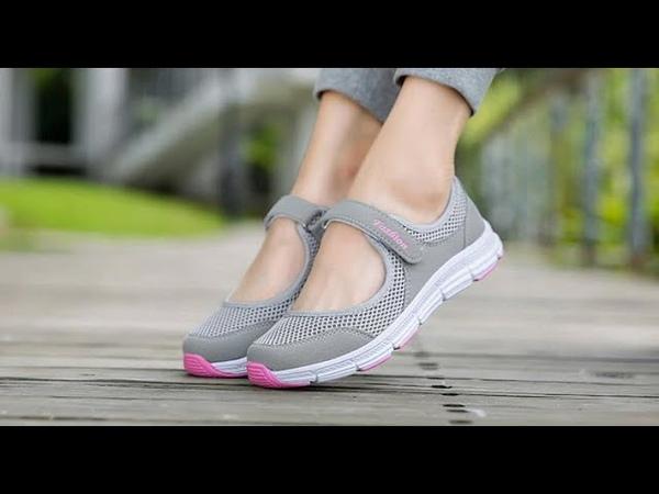 Женская летняя обувь на плоской подошве из сетчатого материала дышащие сандали открытые кроссовки