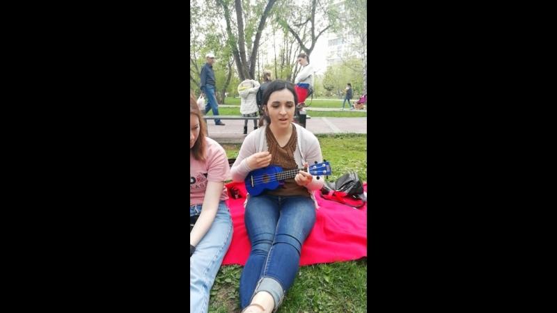 Исполнение песни на английском на укулеле Джеймсон волонтер из Америки