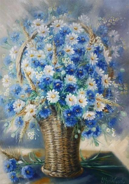 Художник Edith Van Der Wissel Эдит ван дер Виссель родом из Нидерландов, родилась в 1944 г. Живопись - ее страсть. Художница участвовала во многих выставках, работала иллюстратором. Ее