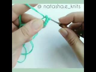 Шнурок крючком - как связать