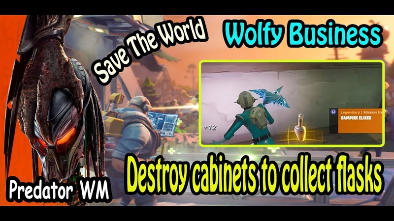 Destroy cabinets to collect flasks 15 Save the World
