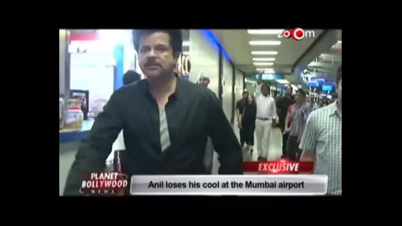 Anil Kapoor loses his cool at the Mumbai airport