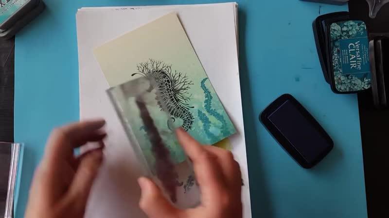 Мастер класс по морской открытке Материалы от Lavinia Stamps