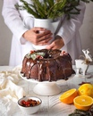 Рождественский шоколадно -апельсиновый кекс с пьяной вишней и изюмом