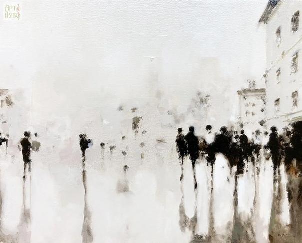 Абстрактный импрессионизм художника Geoffrey Johnson / Джеффри Джонсон Это незнакомое чувство, преследующие меня своей вкрадчивой тоской, я не решаюсь назвать, дать ему прекрасное и