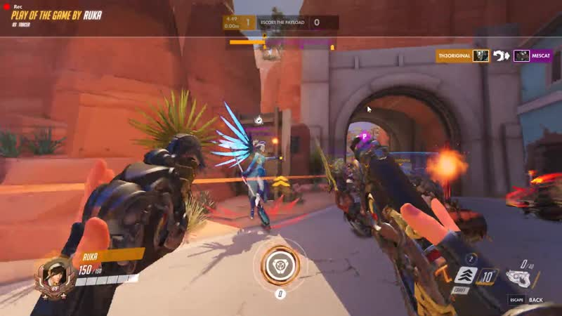 Thanks to the mercy I did a 3k with the pulse bomb by accident I don't think it's this good to be posted here but here I go