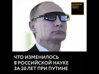 Что изменилось в российской науке за 20 лет Путина