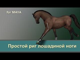 Eazy horse leg rig for maya