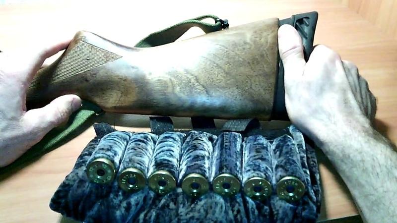МР 155 Патронташ на приклад самодельный не цепляющийся Handmade cartridge on the butt of a shotgun