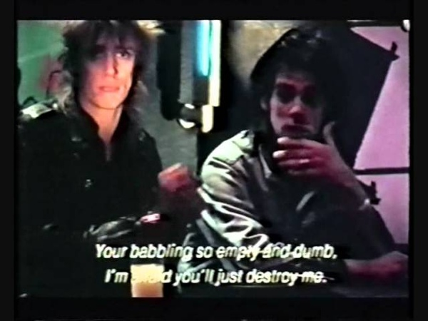 Nick and Blixa playing dice Dandy
