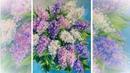 Lilacs flowers oil painting . КАК НАПИСАТЬ БУКЕТ СИРЕНИ