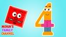 Изучаем цифру 4 ЧЕТЫРЕ Развивающие мультики для детей 0-5 лет.