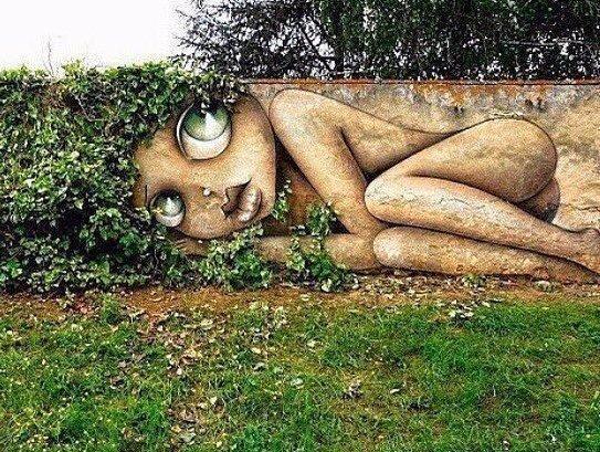 Потрясающее уличное искусство (источник: gofazenda)