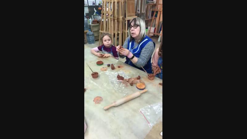 Натуральная глина для детей в студии Арт-Беседка
