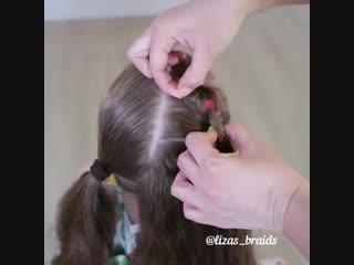Очень красивая причёска    подпишись!