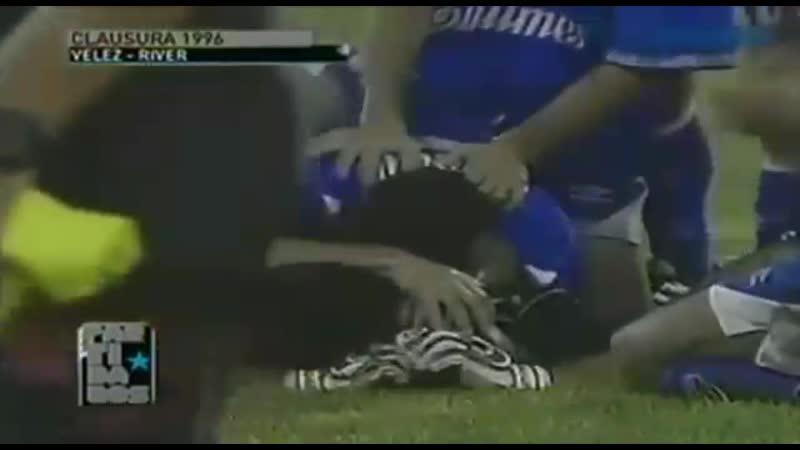 Чилаверт. 22 марта 1996 г. Чемпионат Аргентины (клаусура). Велес Сарсфилд 3:2 Ривер Плейт.