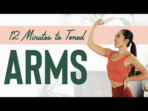 Blogilates - 12 Minutes to Toned Arms Workout | Тренировка для стройных рук без инвентар