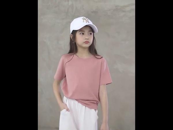 Новые летние брюки для девочек детские широкие 100% хлопок высокое качество мода корейский стиль