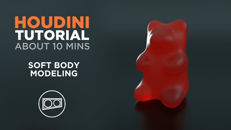 Houdini Tutorial About 10 Minutes How to quickly model soft body objects like gummy bears