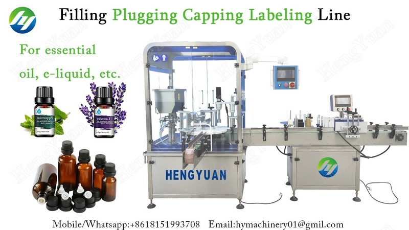 Automatic Filling Plugging Capping Labeling Line for Essential Oil Bottle Packing Equipment