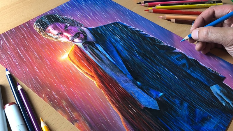 John Wick Artwork Timelapse Artology