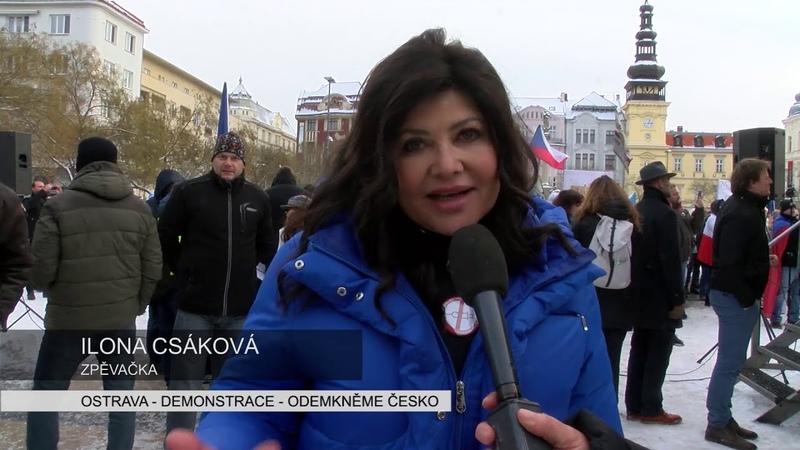 Ostrava - Demonstrace - Odemkněme Česko