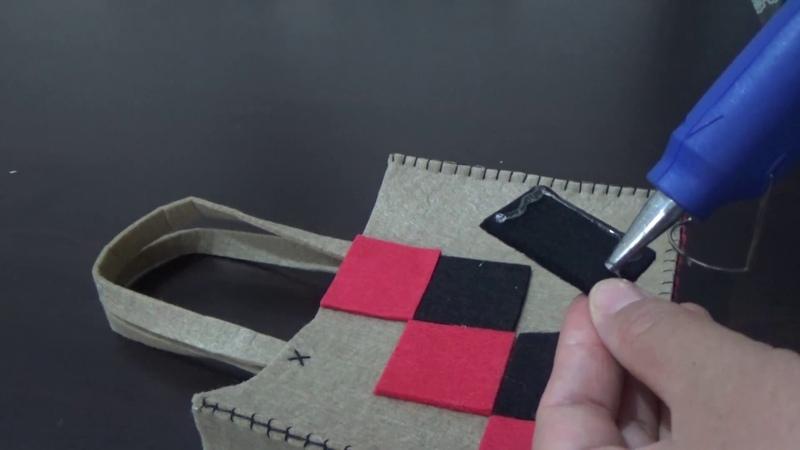 DIY Artık Keçelerden Şık ve Estetik Bir Çanta Geri Dönüşüm kendin Yap @Şükrüyeden Sadece İğne Oyası