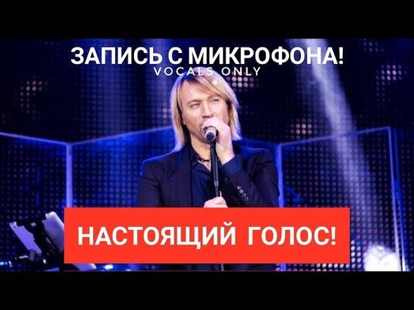 Голос с микрофона Олега Винника - Вовчиця (Голый голос)
